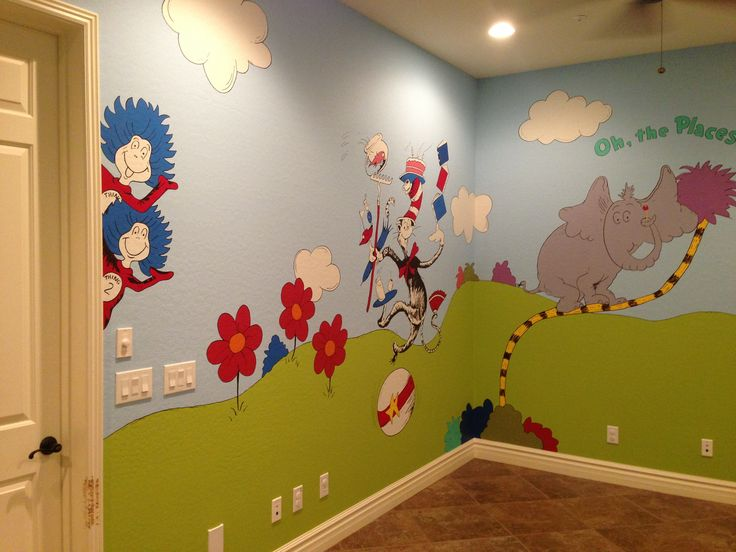 13 best Seussical Toy Room Mural Designed by Kid Murals by Dana ...