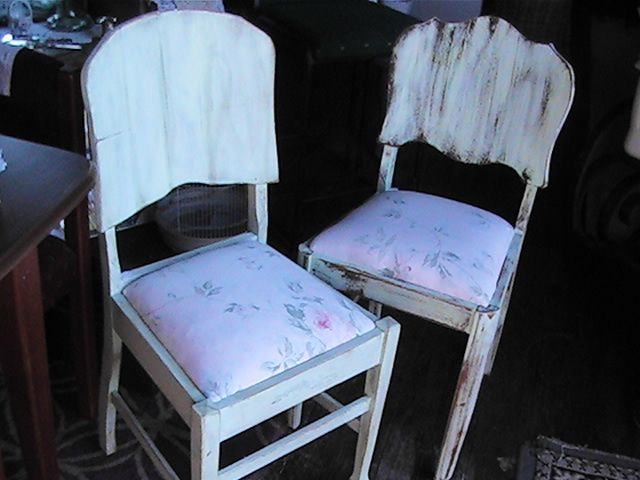 2 vintage chairs given new life.
