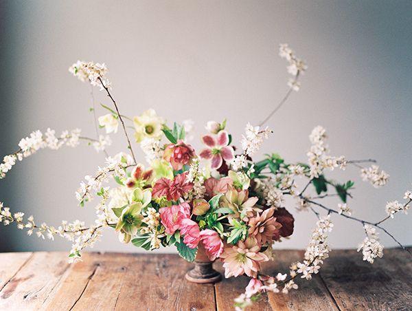 April Wedding Flowers from Sarah Winward   HelleboresSnippet & Ink