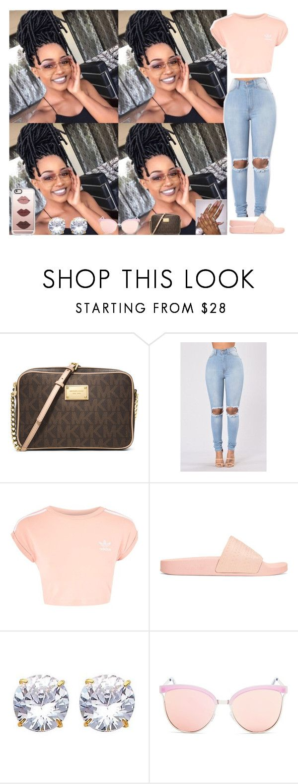 """#18"" by qveensha ❤ liked on Polyvore featuring MICHAEL Michael Kors, Topshop, adidas Originals, Quay and Casetify"