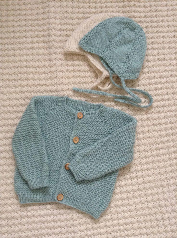 Babytrøje og huer i uld/silke