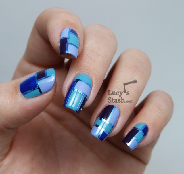 Lucy's Stash - Blue Elegant Squares