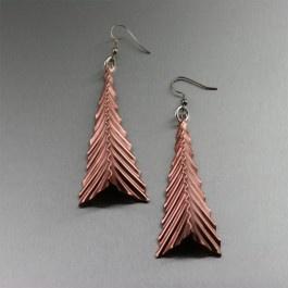 Fold Formed Corrugated Triangular Copper Earrings: Broom, Copper Earrings, Earrings Unique Copper Jewelry, Form Jewelry, Handmade Copper Jewelry, Corrugated Copper, Triangular Copper, Jewelry Techniques, Handmade Jewelry