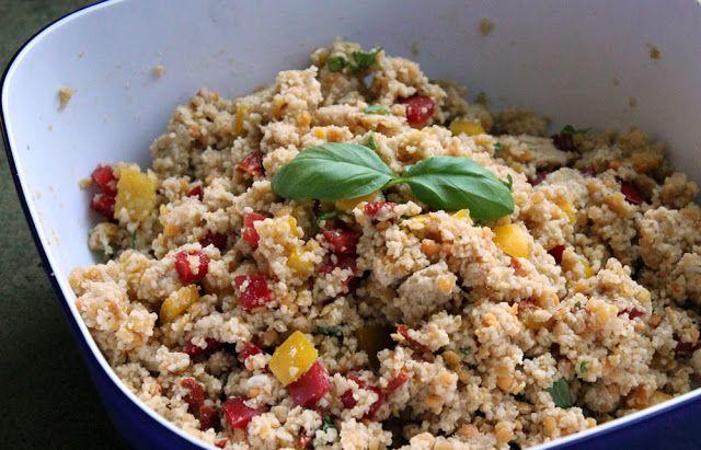 Couscous-Linsen-Salat mit Paprika