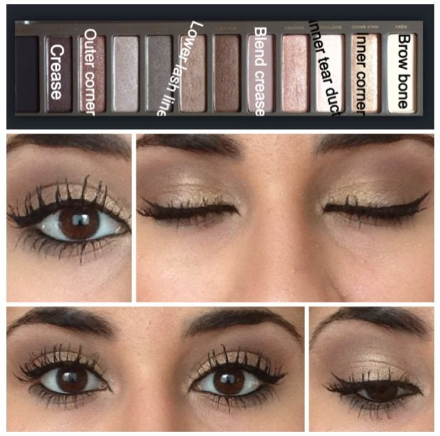"""""""Naked 2 palette. Love the shadow, but those lashes are a travesty...."""" I'm pinning this for the comment it had when I found it. Those lashes are dreadful!!!"""