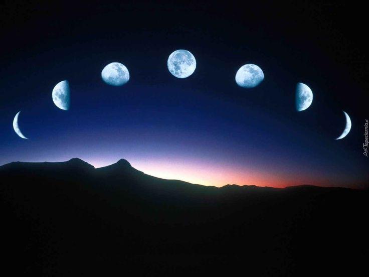 Znalezione obrazy dla zapytania fazy księżyca grafika