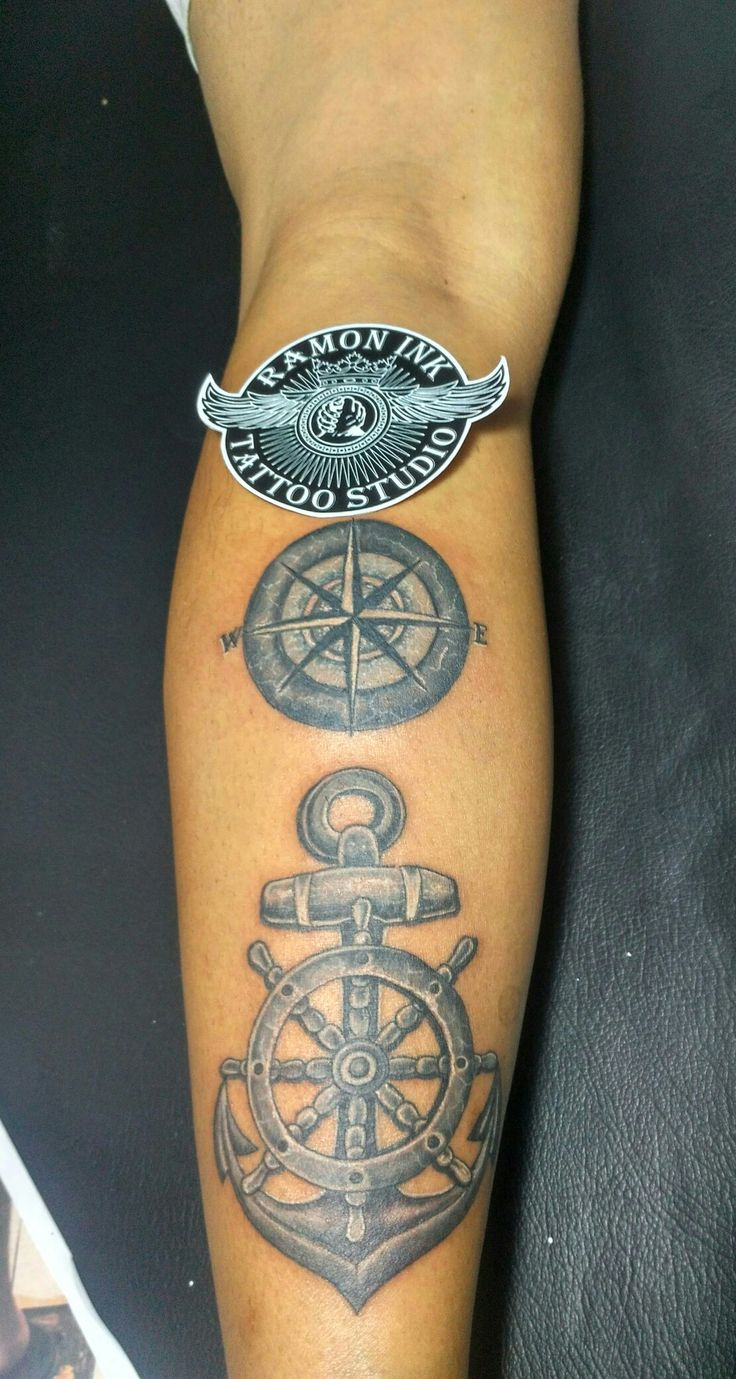 #dayarttattoo#100%sick#anchor#compass#steeringwhell#indonesiasubculture#baliisland#