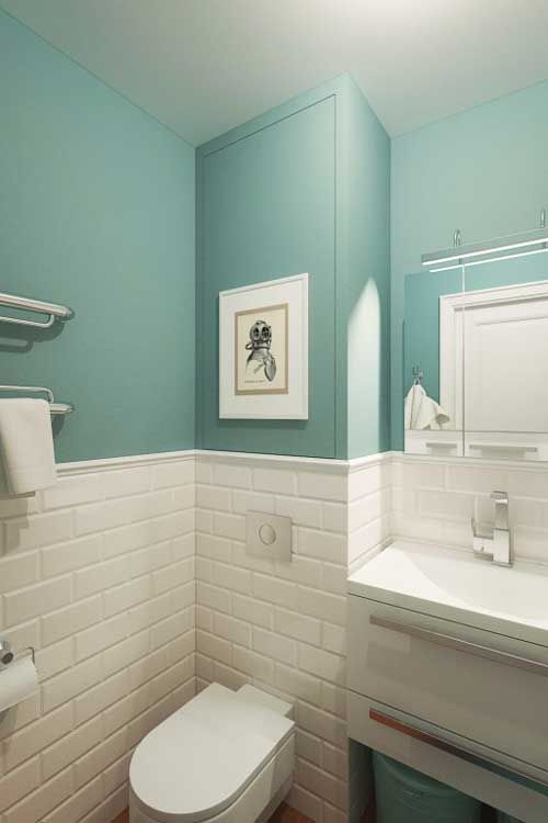Оформление ванной мебелью из IKEA
