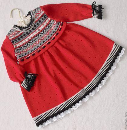 Одежда для девочек, ручной работы. Ярмарка Мастеров - ручная работа. Купить Платье красное для девочки. Handmade. Платье для девочки
