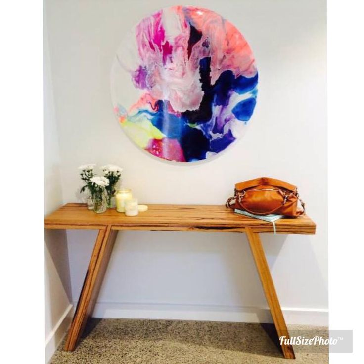 Megan Western Art above our Splayed Leg Side Table.