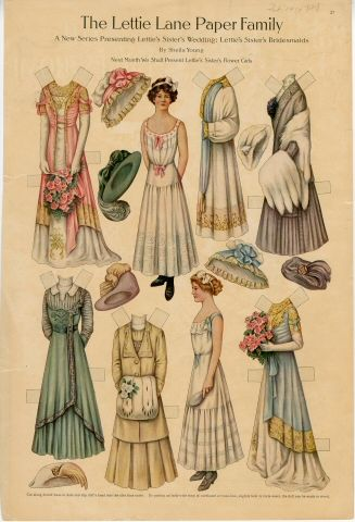 75.2762: The Lettie Lane Paper Family: Lettie's Sister's Bridesmaids | paper doll | Paper Dolls | Dolls | National Museum of Play Online Collections | The Strong