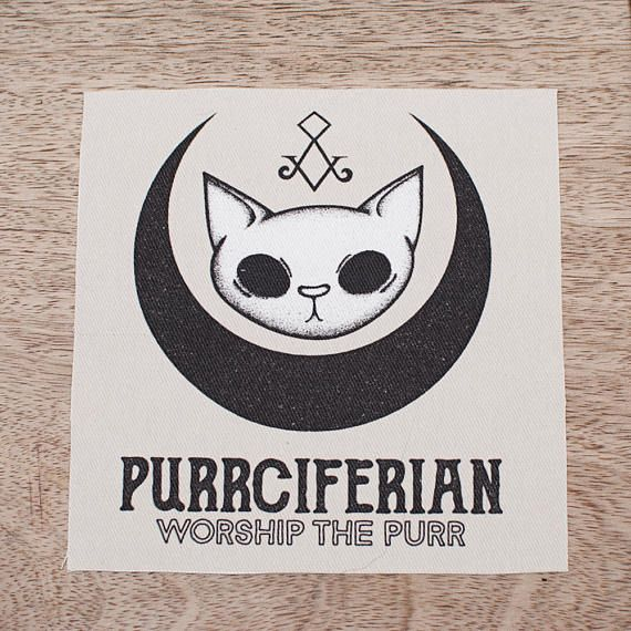 Patch Sew On Purrciferian Worship the Purr
