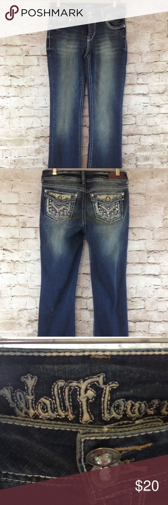 Womens wallflower jeans Womens wallflower jeans size 7!  I bought them, but never wore them! Wallflower Jeans Flare & Wide Leg