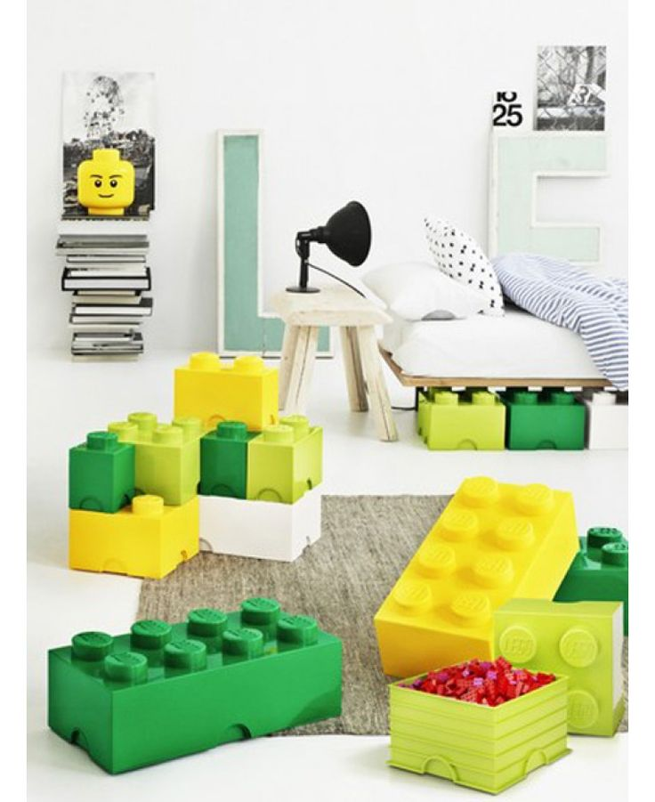 Lego Storage Brick Box 4 block in Green. Lots more colours and sizes to choose from.