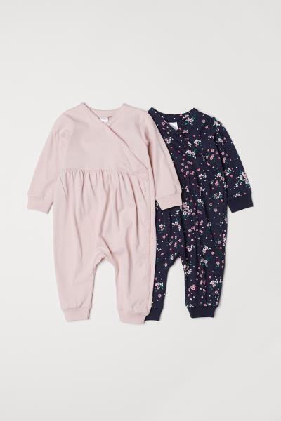 256912e12fd 2-pack Jumpsuits - Dark blue floral - Kids