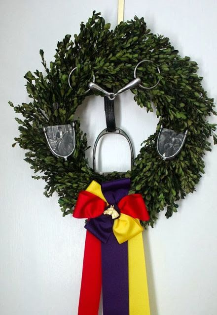 For the barn ~ I will use old bits, spurs, hobbles and vintage sleigh bells instead of the ribbon