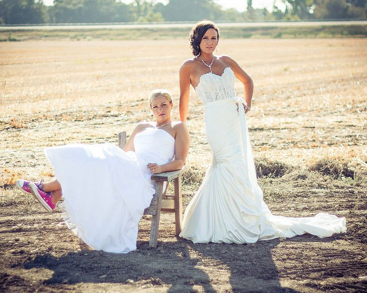 Now, you and I both know that it's the same as any other wedding (or as different as every other wedding, as the case may be). But within our community, it's kind of a rare thing. I mean, this will...