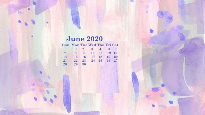 Cute June 2020 Calendar Floral Design Wallpaper in 2020