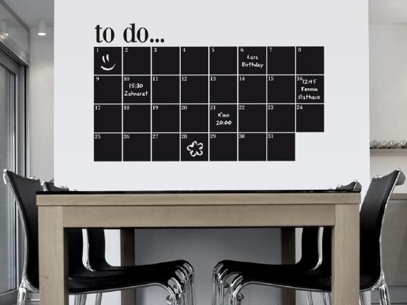Monatswandkalender aus Klebetafeln Mit Kreide beschriftbar. Alternative zu Fern Living ca 45 €, in div. Farben verfügbar