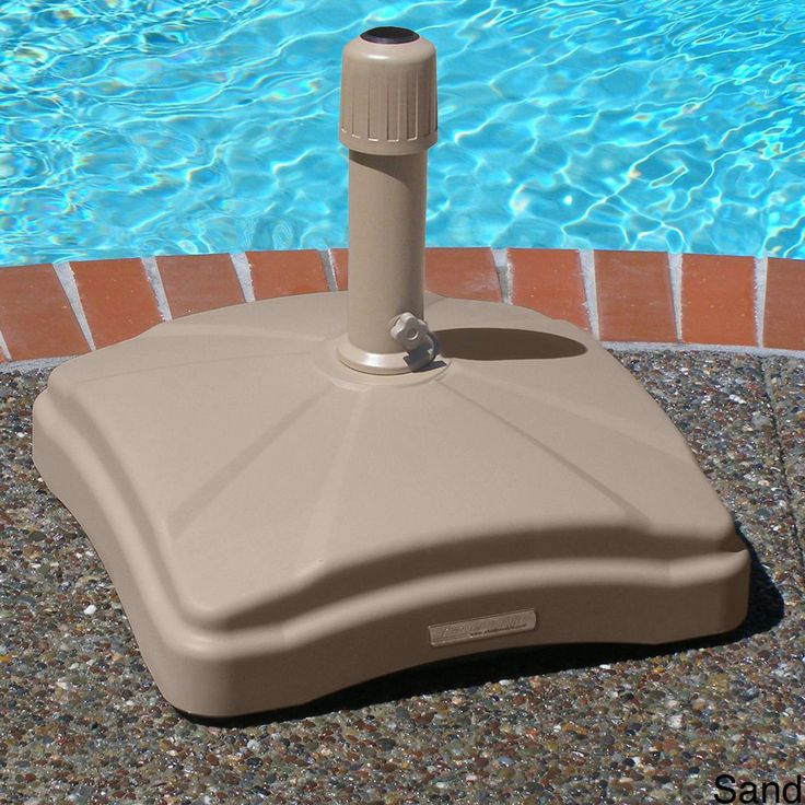 The rolling umbrella base by Shademobile with four non-marking wheels lets you easily position a sunshade wherever you want without heavy lifting. Choose between sand or bronze to match your home decor. The polyethylene base will never rust or chip.