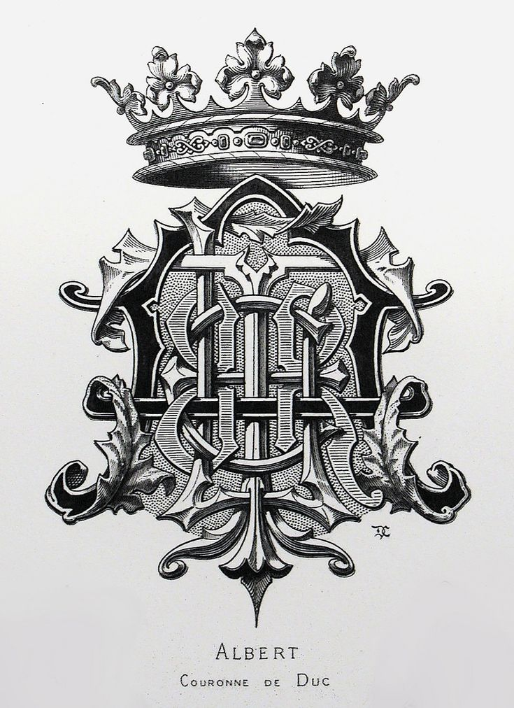 "Monogram ""Albert"" by Charles Demengeot - 1877"
