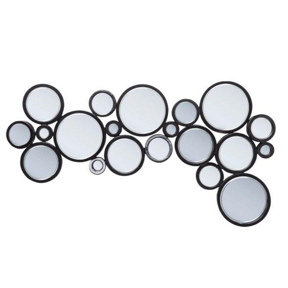 Lustro CIRCLE BLACK 120x70 cm
