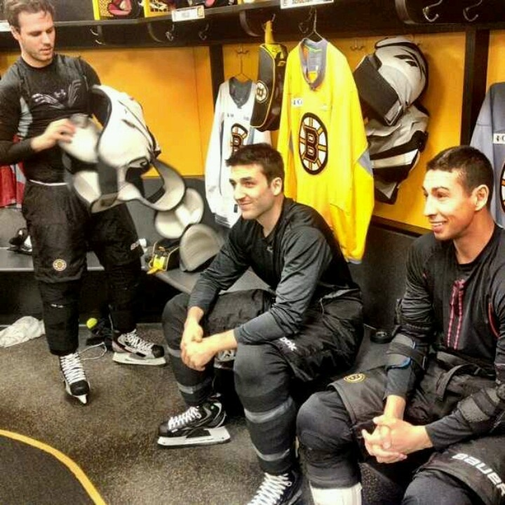 Rich Peverly, Patrice Bergeron & Chris Kelly