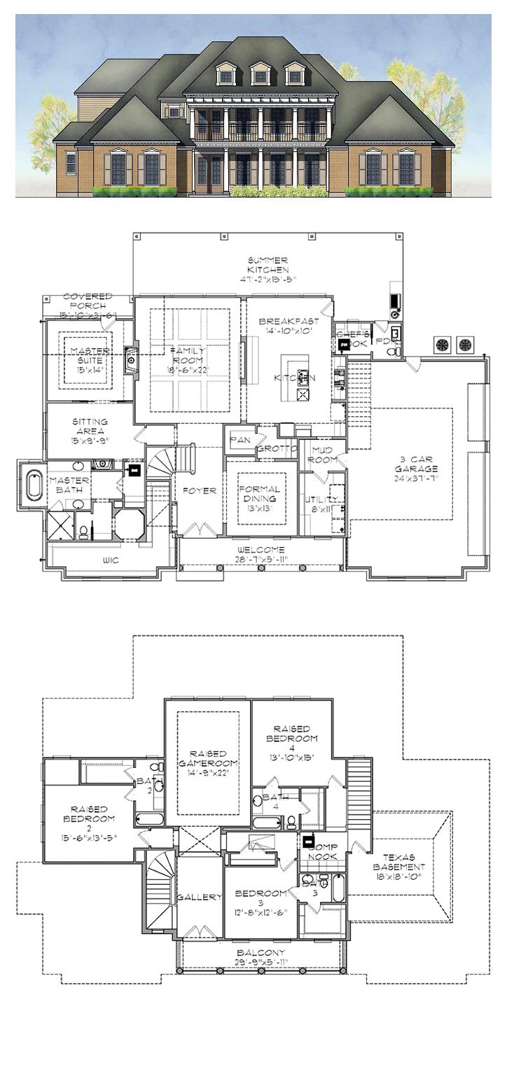 plantation house plan 77884