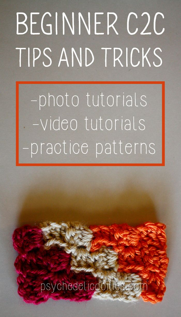 I've put together this ultimate list of corner to corner crochet tips, tricks and tutorials for beginners. 20 articles to help you master c2c, color changes, bobbins, and more.