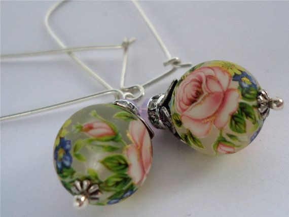 Potpourri Perfume  Long earrings of Japanese by floretteboutique, $28.50