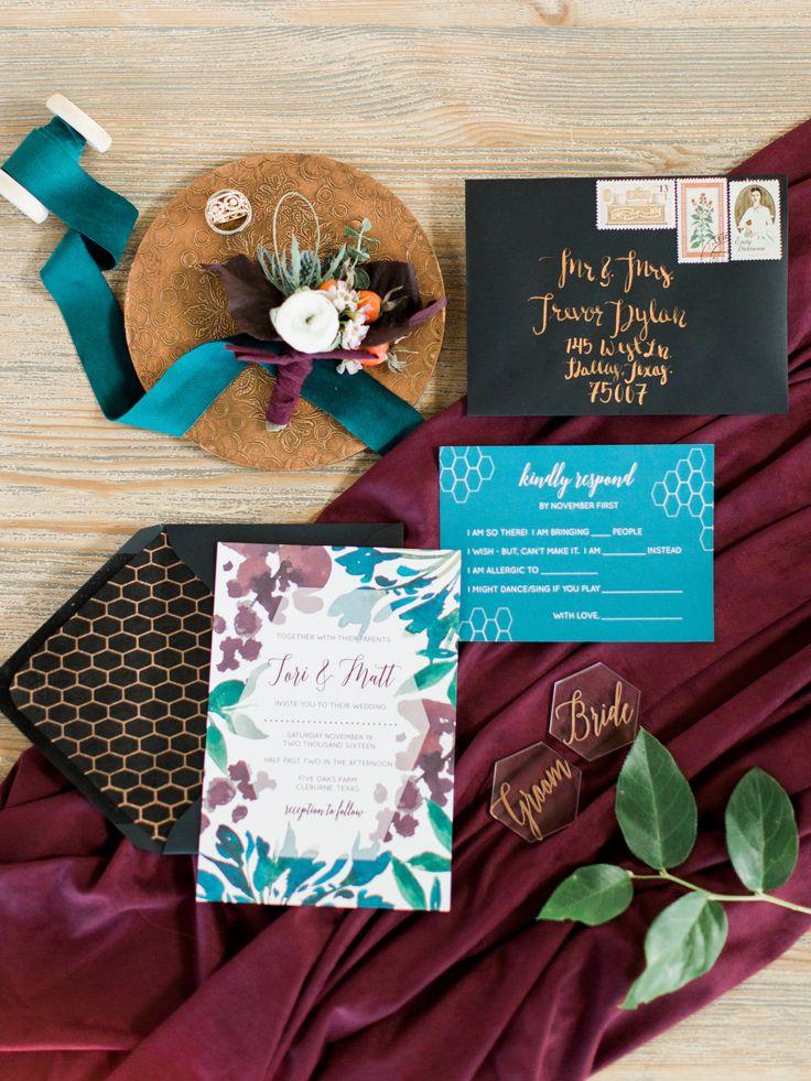 Beautiful + unique invitation suite