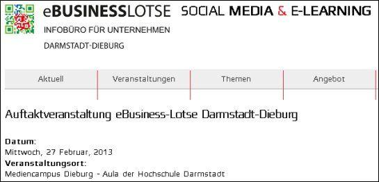 Werner Deck spricht bei der Auftaktveranstaltung zu Social Media, Mediencampus Hochschule Darmstadt