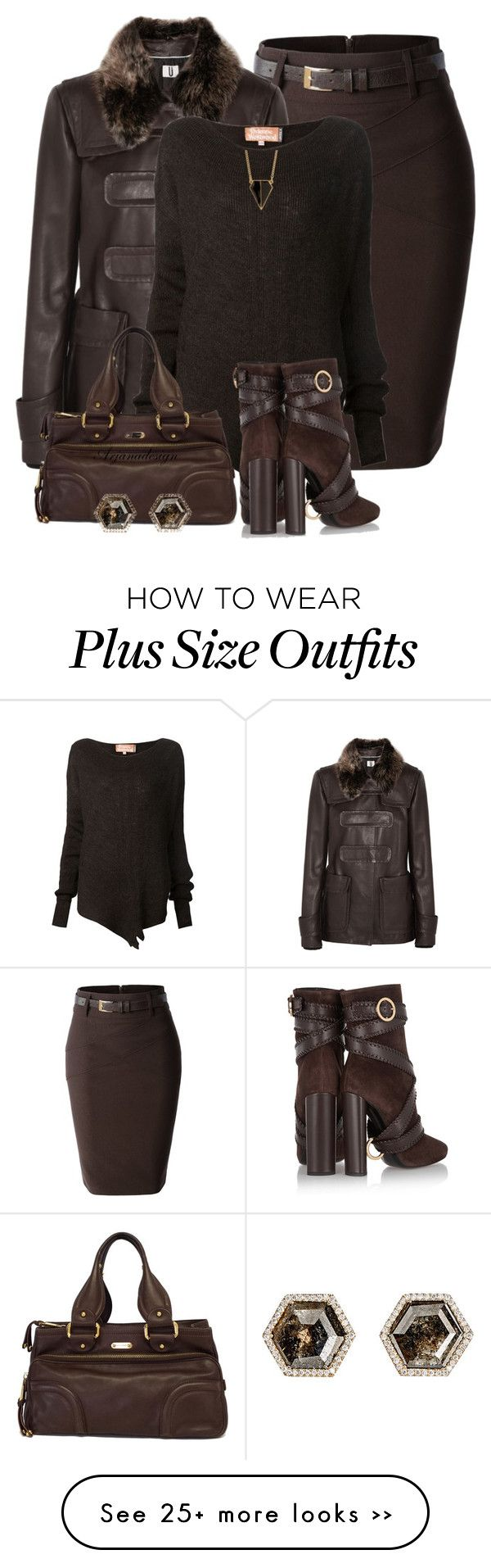 """""""CHOCOLATE BROWN FOR FALL"""" by arjanadesign on Polyvore featuring LE3NO, Topshop Unique, Vivienne Westwood, Tom Ford, Marc Jacobs, Monique Péan, Rebecca Minkoff, WorkWear and fall2015"""