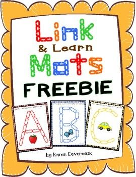 Put your chain link manipulatives to use! Students will place links on mats to create letters of the alphabet! A great letter recognition and letter sound activity! Your students will learn letters and sounds while honing their fine motor skills. Includes Uppercase letters: A, B, and C.