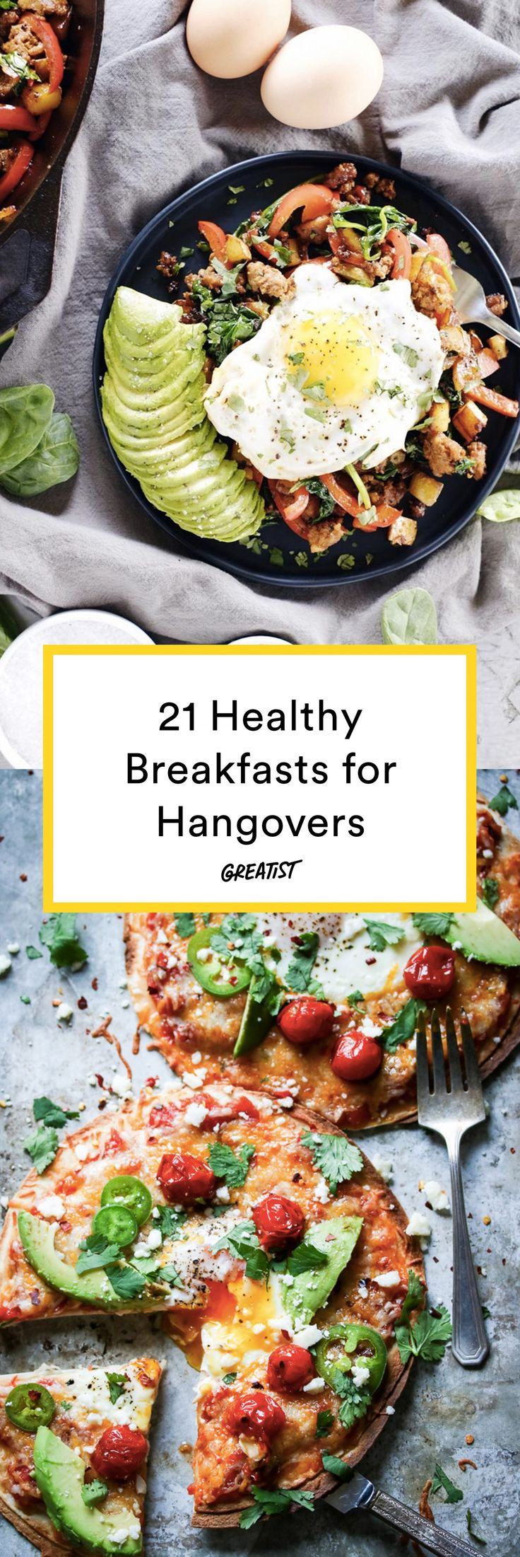 Take yourself from zero to (nearly a) hero, with just one bite. #greatist https://greatist.com/eat/breakfast-recipes-that-help-hangovers