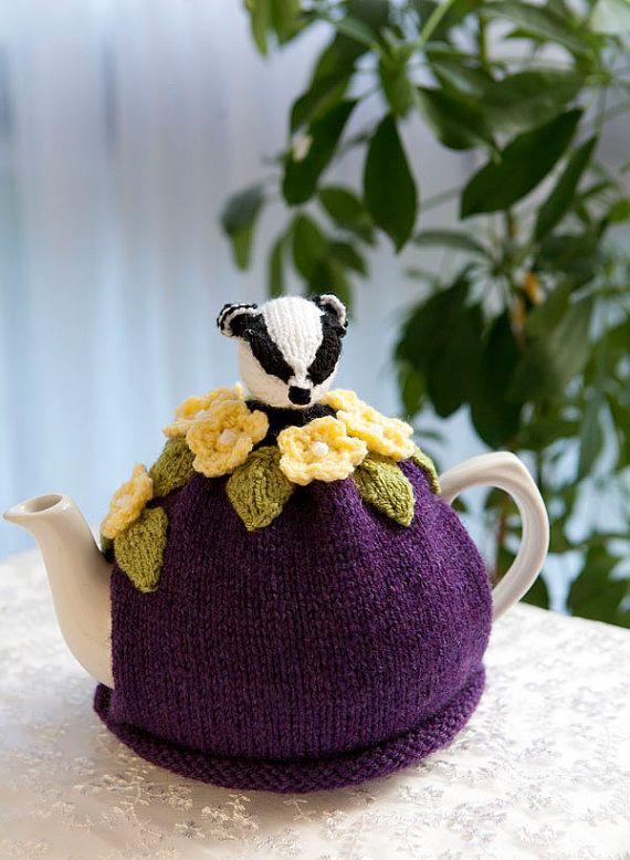 Can't get enough of animal tea cozies...must be my love of Beatrix Potter - Bertie Badger Tea Cosy
