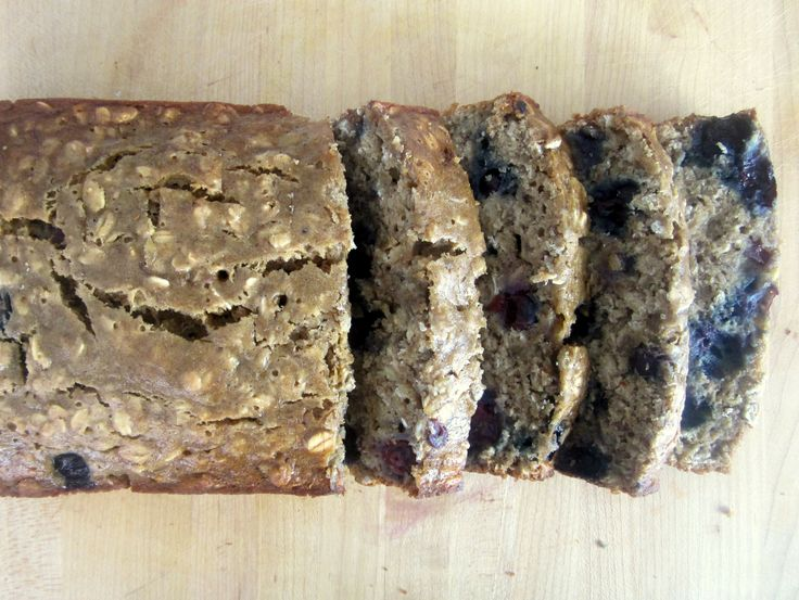 Low fat blueberry oatmeal banana bread... I did not have vanilla extract... added flax seed, vanilla or chocolate flavored protein powder, and an extra tbsp of 0% plain greek yogurt.. great energy packed snack/breakfast