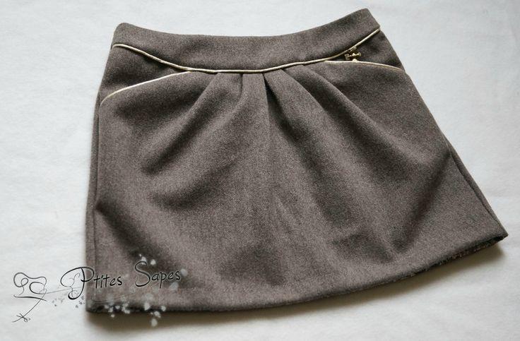 Jupe MINI-PERLE, version A, patrons de couture Ivanne.S, by Ptites Sapes