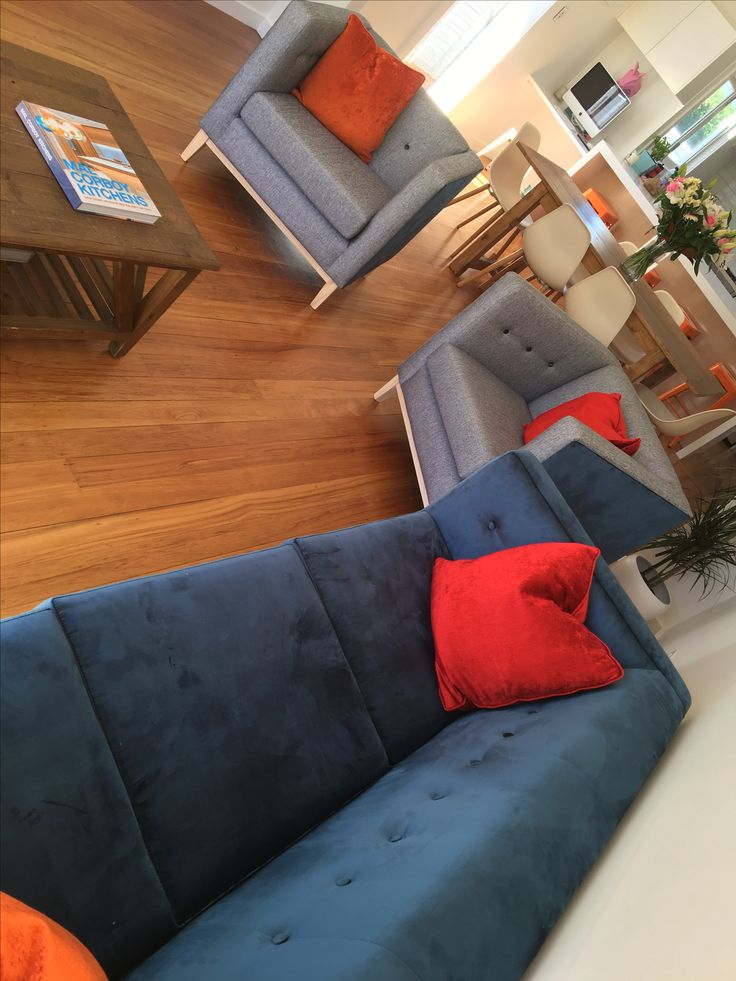 Loving the pop of blue with my Miss LoLo furniture