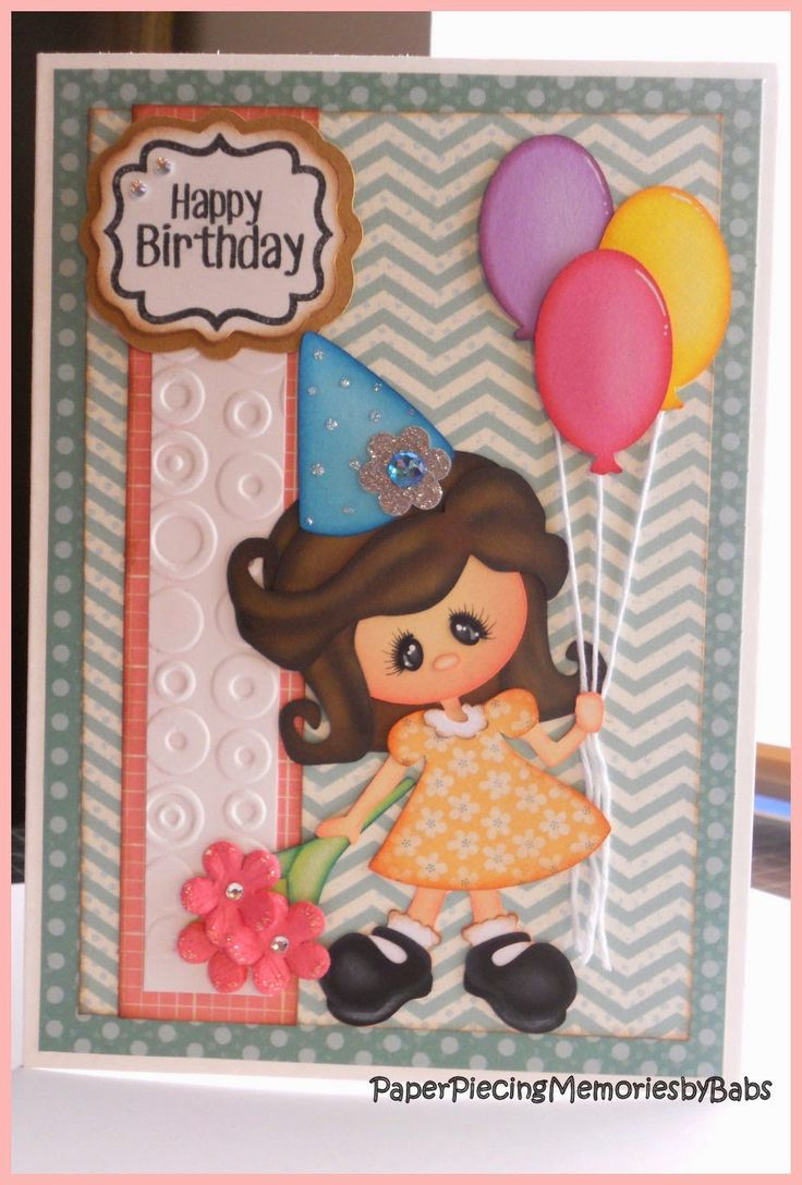 166 Best Greeting Cards Created By Paper Piecing Memories By Babs