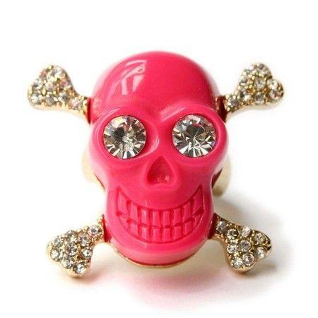 Anel Caveira Pink #skull #ring #caveira #anel