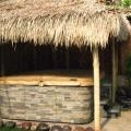 Bamboo/Palm-Thatched Jacuzzi Cover and Fence
