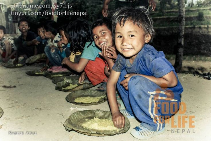 Food for Life in Nepal, one of the few organizations providing hot meals to the survivors.