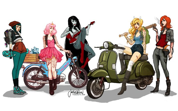 THE ART OF JACQUELIN DELEON — Adventure Time Moped Gang!  by Jacquelin de Leon ...