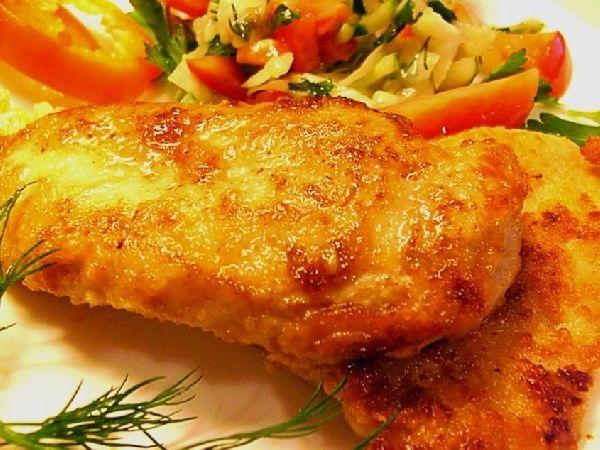 Куриный шницель с сыром