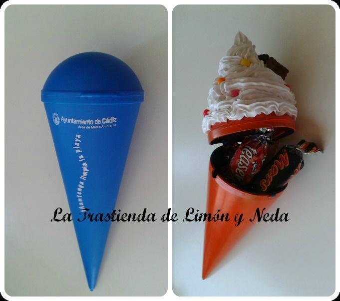 La Trastienda de Limón y Neda: ¿Cono de helado o caja de golosinas? Un regalo muy original