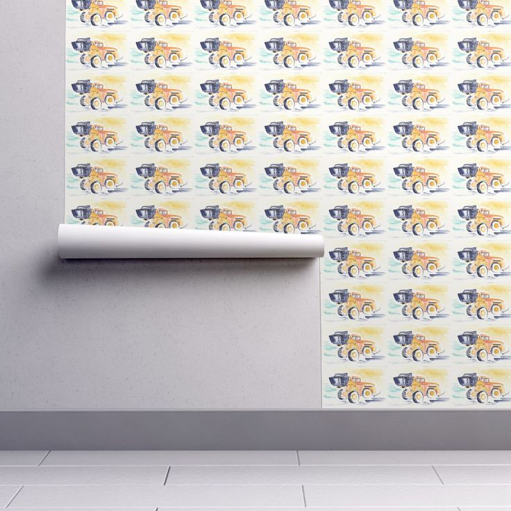 Isobar Durable Wallpaper featuring Construction by wildflowerfabrics | Roostery Home Decor