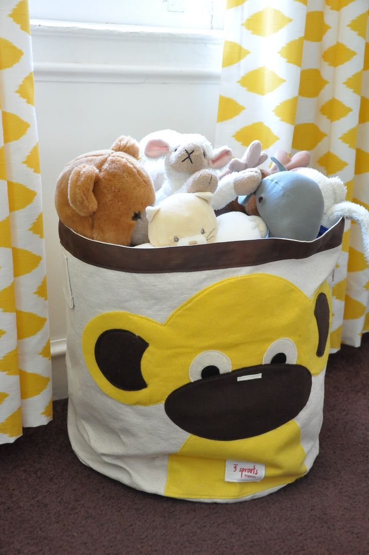best  sprouts storage  decor ideas images on pinterest    -  sprouts monkey storage bin available at wwwhooplaroomcom