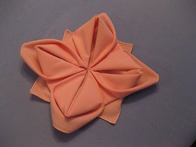 Flower Napkin Folding Step By Guide Cute Party