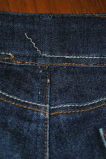 Janky Cantankerous: Tutorial: Making jeans smaller in the waist